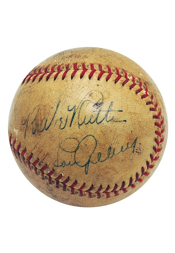 Babe Ruth & Lou Gehrig   Autographed Baseball.