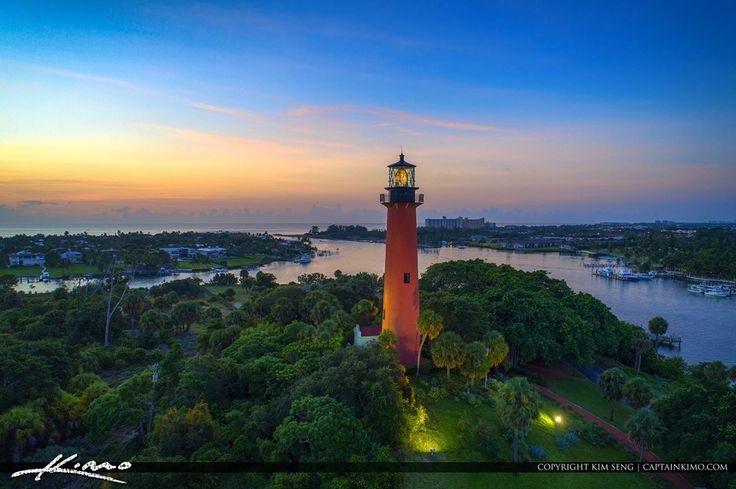 Jupiter Lighthouse Palm Beach FL by Kim Seng #miami #florida #miamibeach #sobe #southbeach #brickell #Florida