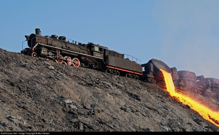 RailPictures.Net Photo: SY 1676 Baotou Steel Mill Railroad Steam 2-8-2 at Baotou, China by Ben Kletzer