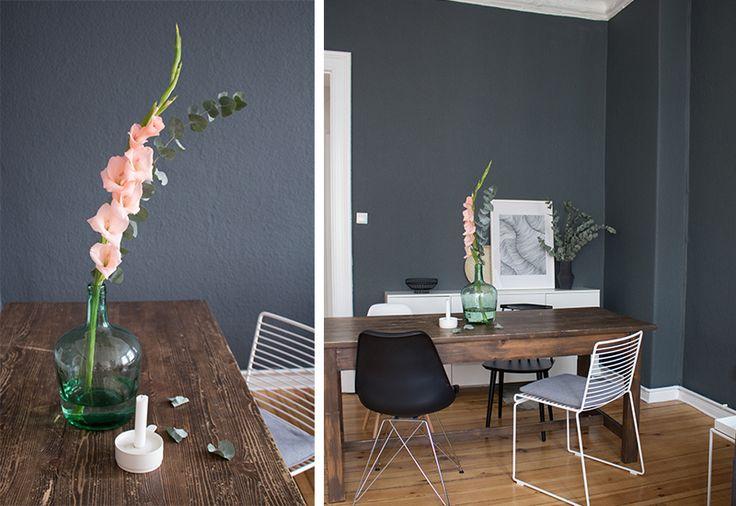 ber ideen zu dunkler flur auf pinterest flure graue wandfarben und wandfarbe farbt ne. Black Bedroom Furniture Sets. Home Design Ideas