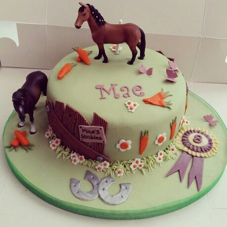 Horse Riding themed birthday cake
