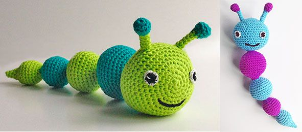 Crochet larva or caterpillar