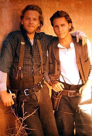 I had this poster of Keifer Sutherland and Emilio Estevez in my bedroom when I was little!
