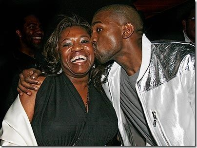 Kanye West & his mom