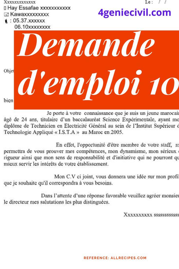10 Lettres De Motivation De Demande D Emploi Cv Design Resume Cv Dido