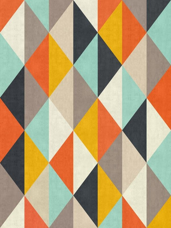 Colored Pattern Iv Wallpaper From Happywall Modern Fashion