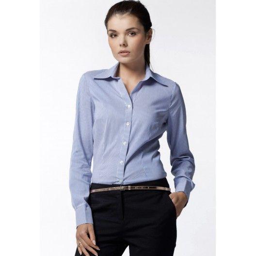 Modrá žíhaná košile pro dámy - manozo.cz