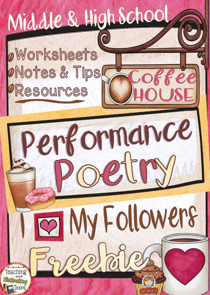 Performance Poetry Coffee House Resources for Analysis & DIscussion. CCSS Middle and High School ELA.