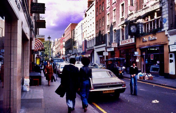 Frith Street, Soho. October 1977
