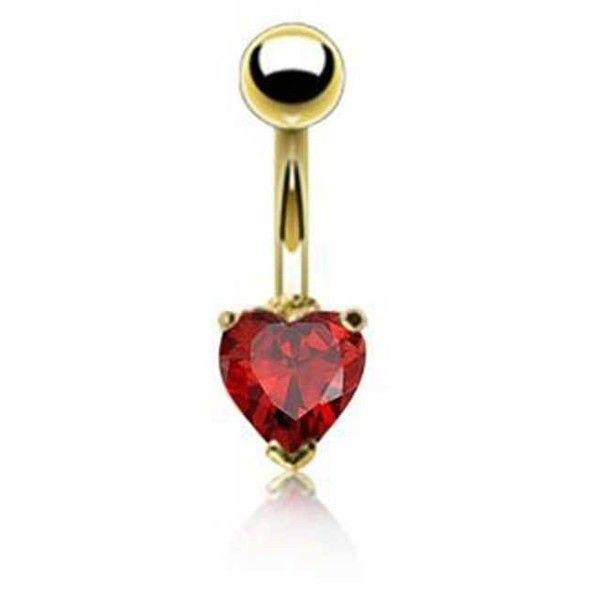 Bling Jewelry Rapture Red Body Gem Body Jewelry ($9.99) ❤ liked on Polyvore featuring jewelry, belly button ring, body jewelry, body-piercing-rings, red, red heart jewelry, imitation jewellery, gemstone jewellery and fake body jewelry