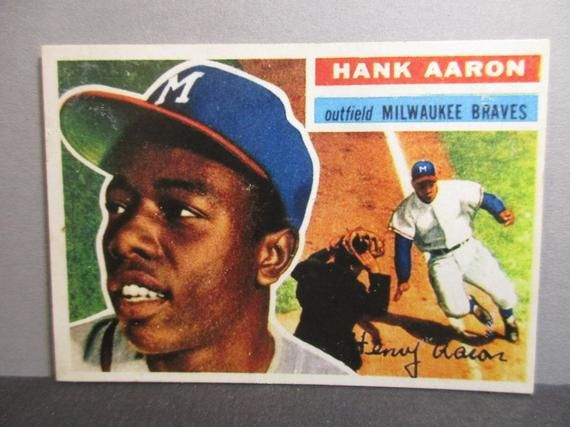 Highest Quality Hank Aaron 1956 Topps Reprint Baseball Card Hank Aaron Baseball Cards Cards