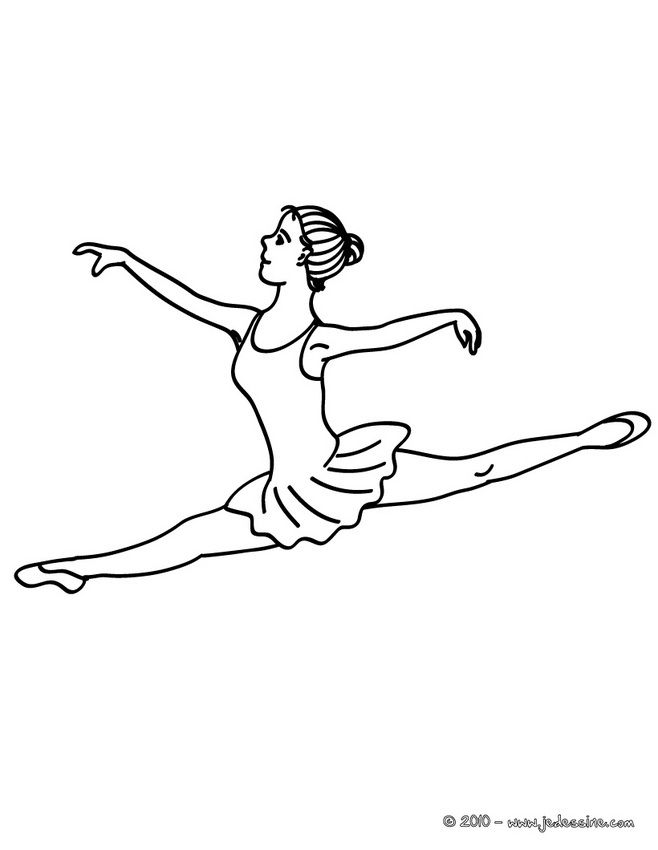 dance coloring pages star ballerino - Dance Coloring Pages
