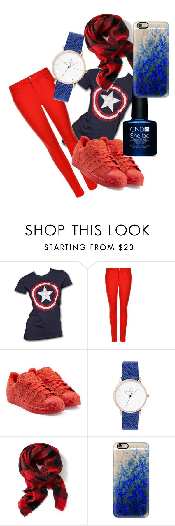 """Captain 'merica!"" by lorelai-265 on Polyvore featuring Marvel, J Brand, adidas Originals, Old Navy and Casetify"