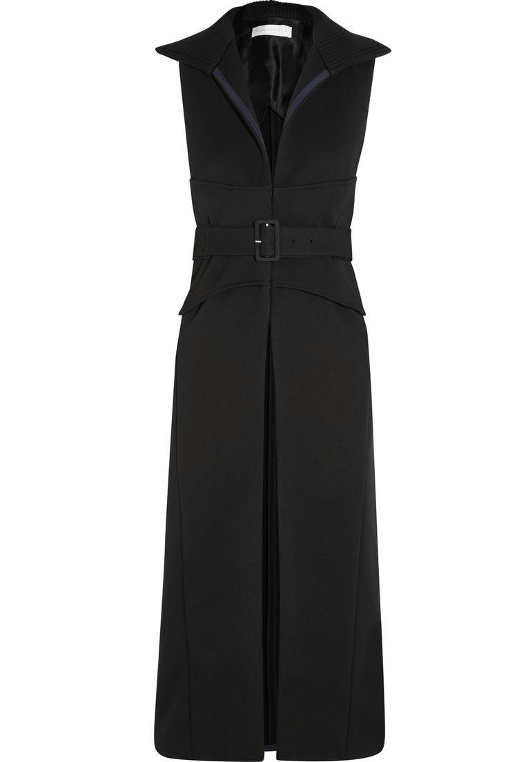 Victoria Beckham - Black belted long gilet.