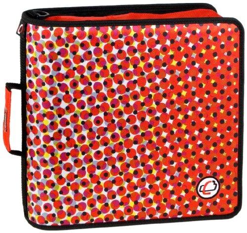 Red Zipper Binder Case It Large Capacity 3 Inch Zipper