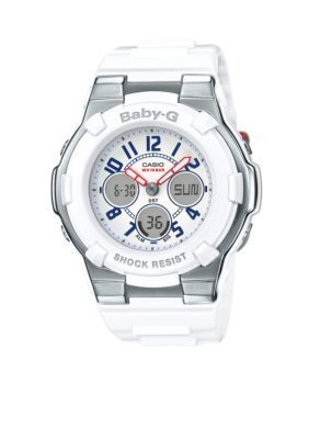 Baby-G  Womens White Red and Blue G-Shock Watch