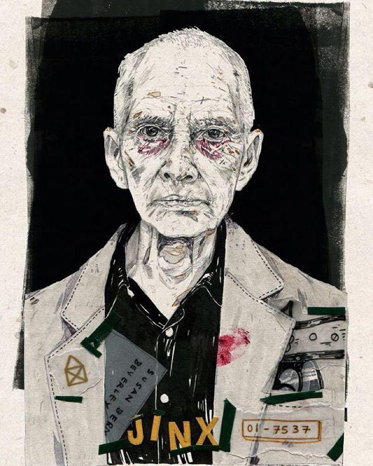 'Bob Durst' I kinda like him.. #illustration #ink #art #bobdurst #thejinx #murder #collage