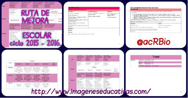 Completo documento: RUTA DE MEJORA ESCOLAR ciclo 2015 - 2016