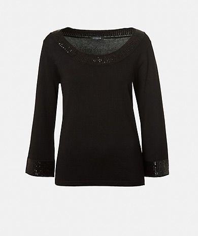 Camisola de malha com lantejoulas Malhas Mulher | LANIDOR.COM - Shop Online
