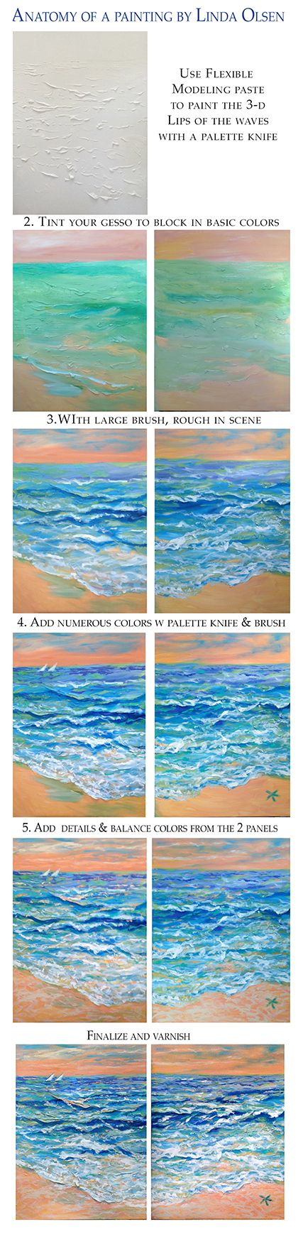 Painting lesson, tutorial, beach painting olsenartnews.wordpress.com