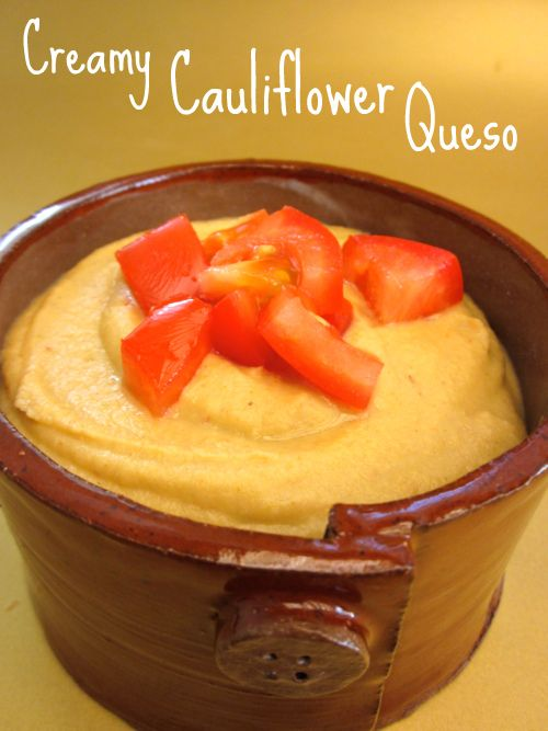 Creamy cauliflower queso