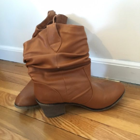 Brown Heeled Boots Size 8. One inch heel. Tilly's Shoes Heeled Boots