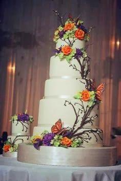 Pretty & Simple Wedding Cake Designs 2014