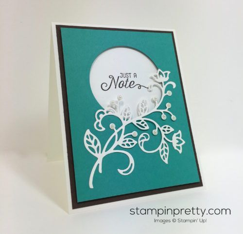 Simple Saturday Card with a Flourish & a Video!   Mary Fish, Stampin' Pretty The Art of Simple & Pretty Cards   Bloglovin'