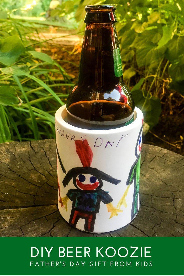 DIY foam custom koozie can and bottle drink cooler for Dad
