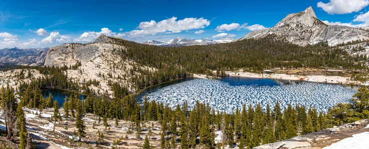 Cathedral Peak in the Tuolumne Meadows area of Yosemite National Park