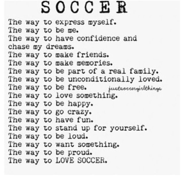 Soccer is my life
