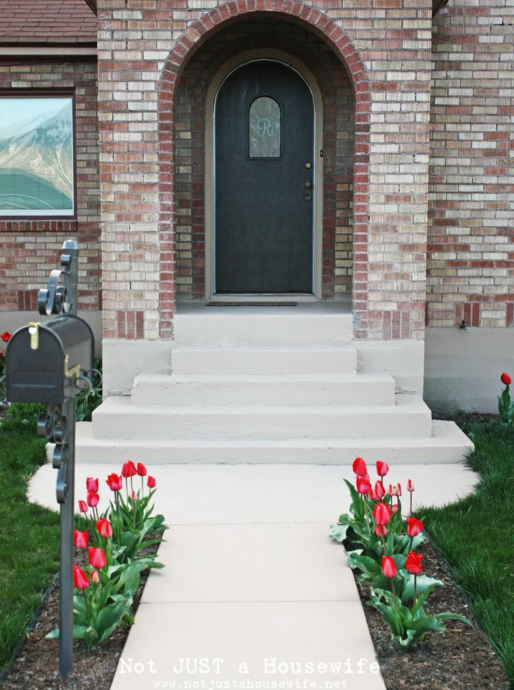 painted steps: Painted Steps, Paintings Cement Porches, Paintings Step, Cement Step, Behr Concrete, Garage Floor Paint, Concrete Garage, Paintings Concrete Step, Garage Floors Paintings