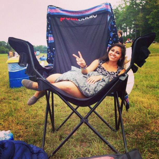 What's music festival camping without a giant lawn chair? #tomorrowworld #atlanta #edm #camping #festivalcamping