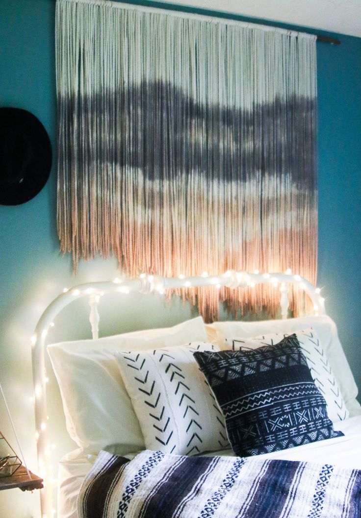 Sandstorm Woven Wall Hanging, boho style, boho home decor, bohemian home decor, dip dye tapestry