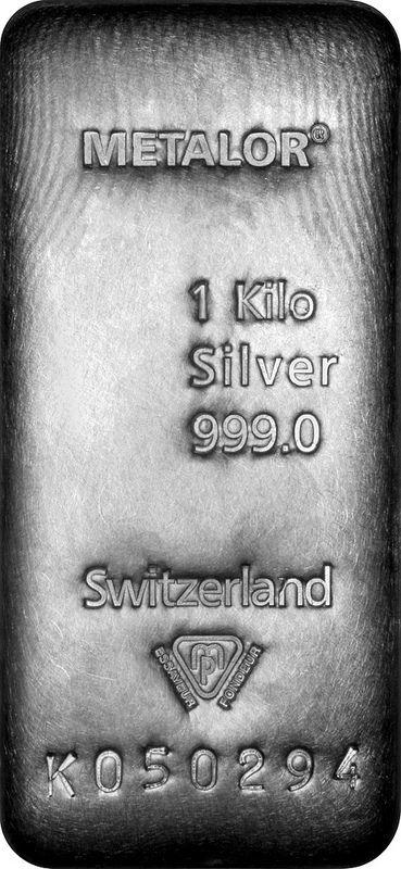 Metalor One (1) Kilo Silver Bullion Bar | by Lawrence Chard