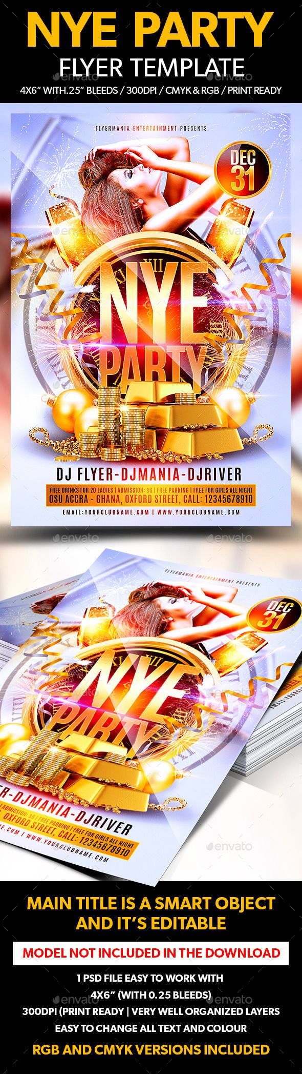 100 best New Year Party Flyer Templates images on Pinterest ...