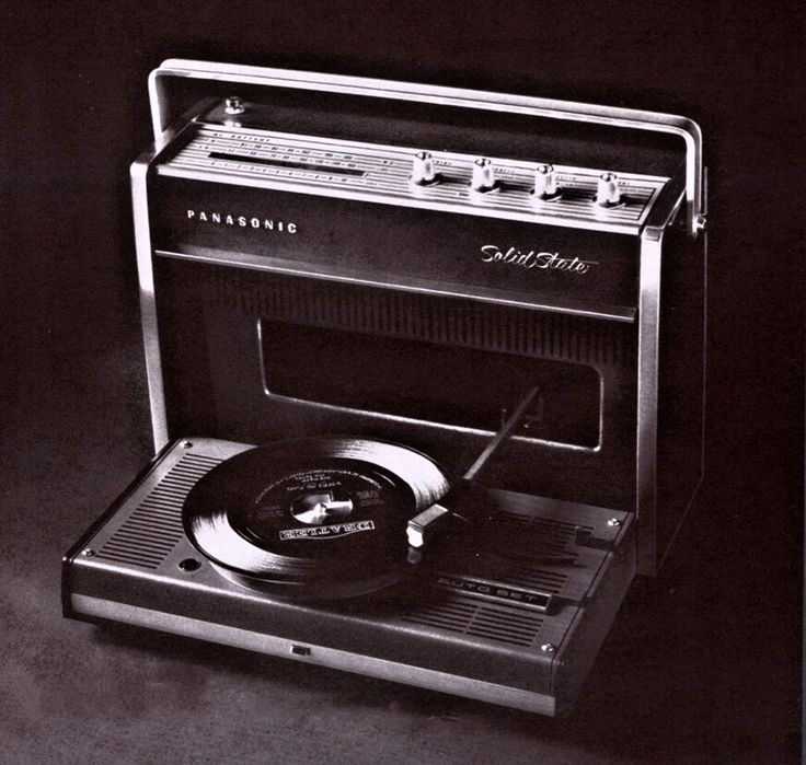 Panasonic SG-610 Solid State AM-FM Portable Record Player, 1968
