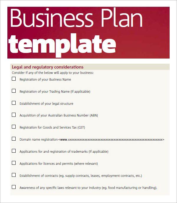 Business Plan Template Pdf Business Plan Template Word Business