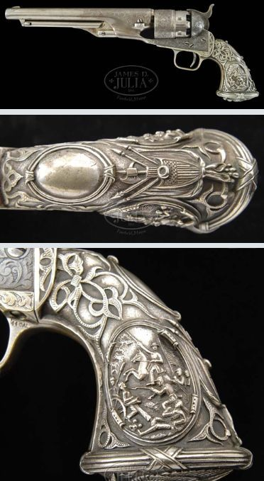 I have long loved these Tiffany Federal grips. I think I must acquire a revolver so equipped one day...