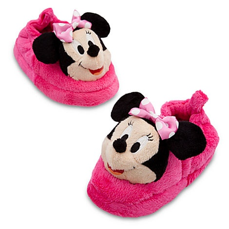 Alli- Minnie Mouse Slippers for Girls   Slippers   Disney Store