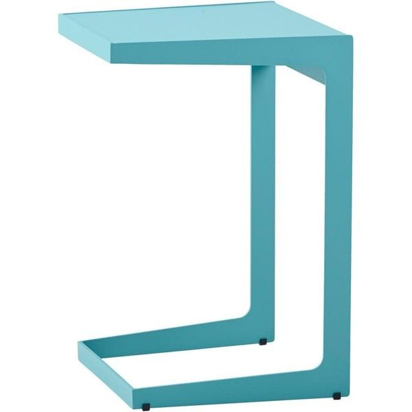Cane Line Time Out Side Table - Aqua ($330) ❤ liked on Polyvore featuring home, furniture, tables, accent tables, outdoor coffee table, traditional coffee tables, outdoor end tables, outside table and outdoor accent tables