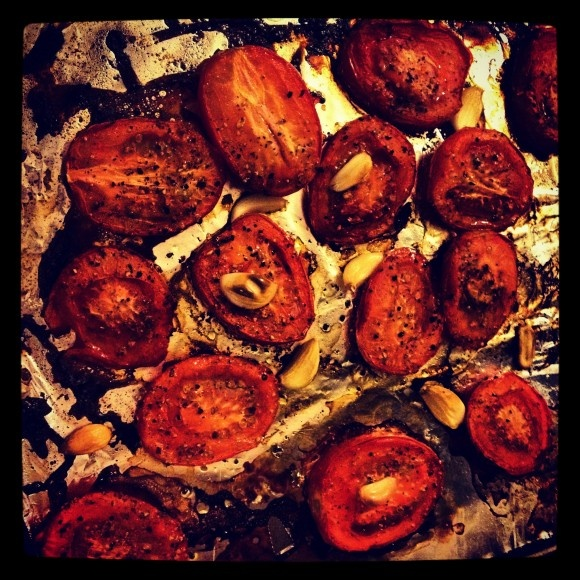 roasted tomatoes & garlic. can you get more delicious?