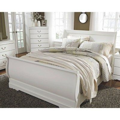Best Queen Anarasia Sleigh Headboard White Signature Design By Ashley In 2020 Bedroom Furniture 400 x 300