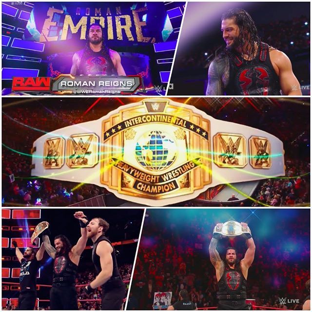 The #Champ is here!!!  #RomanReigns #BigDog #ICTitle #GrandSlamChampion #RAW #My...