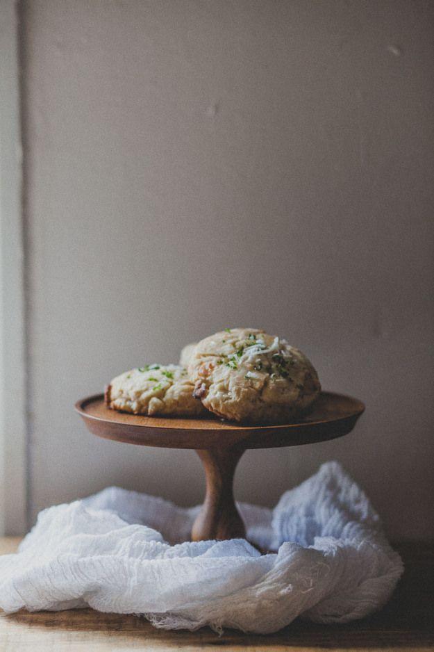 White Chocolate Coconut Cream Scones with Lime Glaze | The Baking Bird