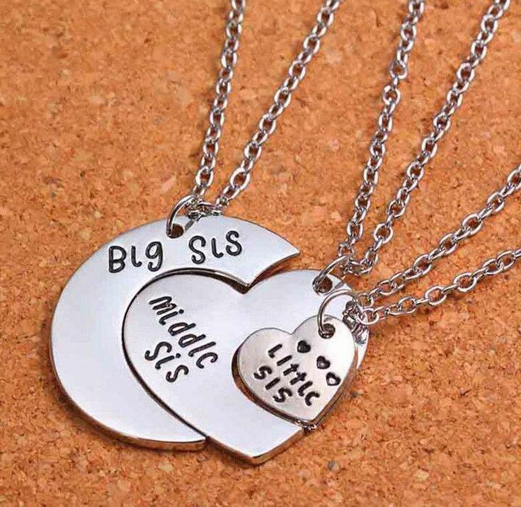 Big Sister/Middle Sister/Little Sister Necklace Set