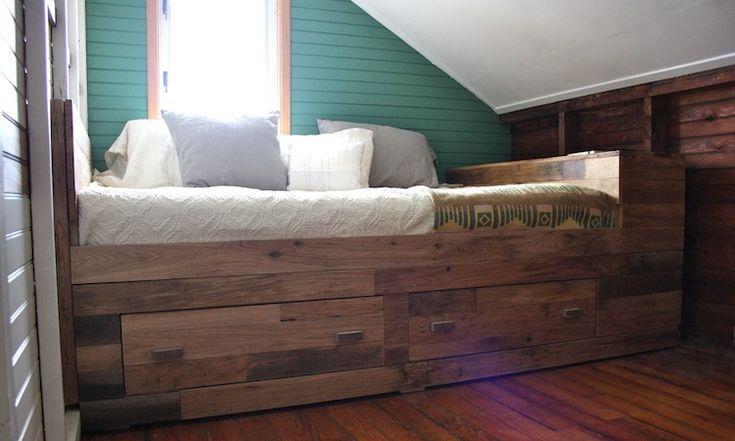 oak island storage bed   Nightwood