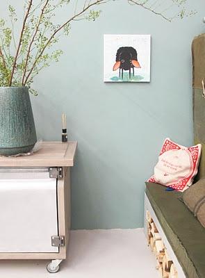 Vt wonen house - Woonbeurs Amsterdam, gaaf die kleur op de muur