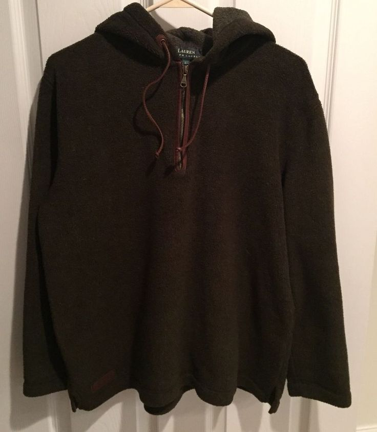 Ralph Lauren Equestrian Supply Co Womens Pullover Hood Size Large L Very Soft in Clothing, Shoes & Accessories, Women's Clothing, Sweats & Hoodies | eBay