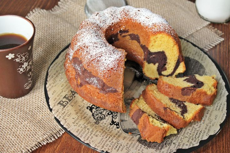 Marble Κέικ (κέικ Βανίλια-Σοκολάτα) | Marble Cake, a perfect way to begin your day